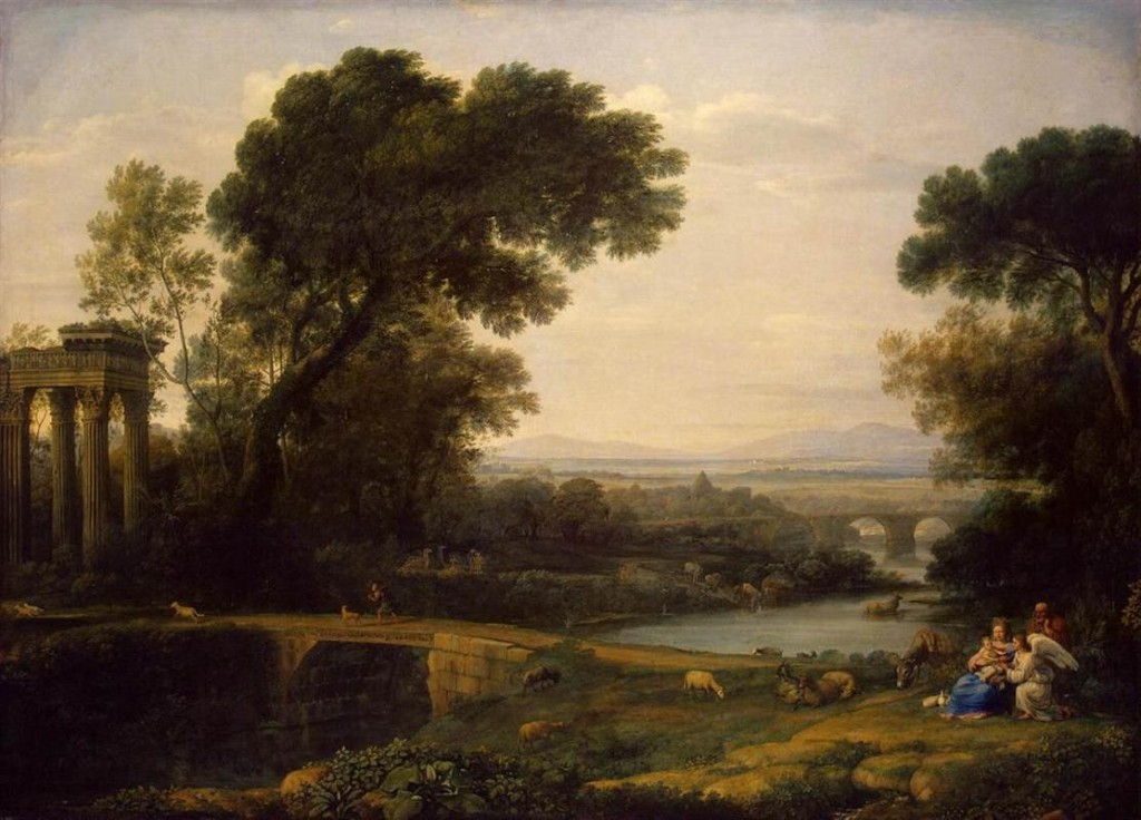 "Claude Lorrain, ""Landscape with the Rest on The Flight into Egypt,"" 1666"