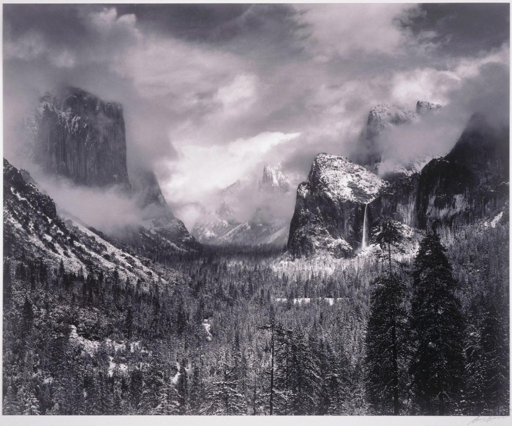 Ansel Adams, Clearing Winter Storm, Yosemite National Park, 1937 (print 1976)