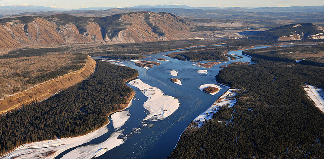 Fort Selkirk, Yukon River, looking east