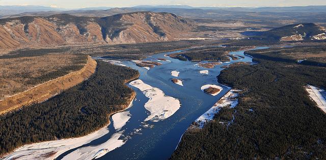 Fort Selkirk, Yukon River, looking east