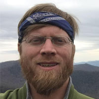 Stephen Wood in Nantahala Wilderness Area.