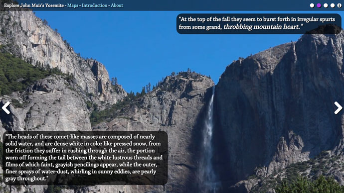 Screenshot from Explore John Muir's Yosemite