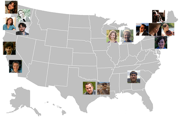 U.S. map with Landscape Music Composers Network