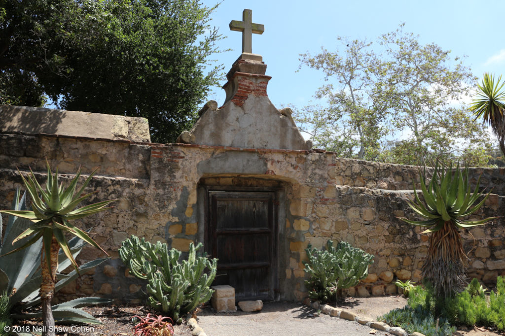Cemetery wall, Mission Santa Barbara