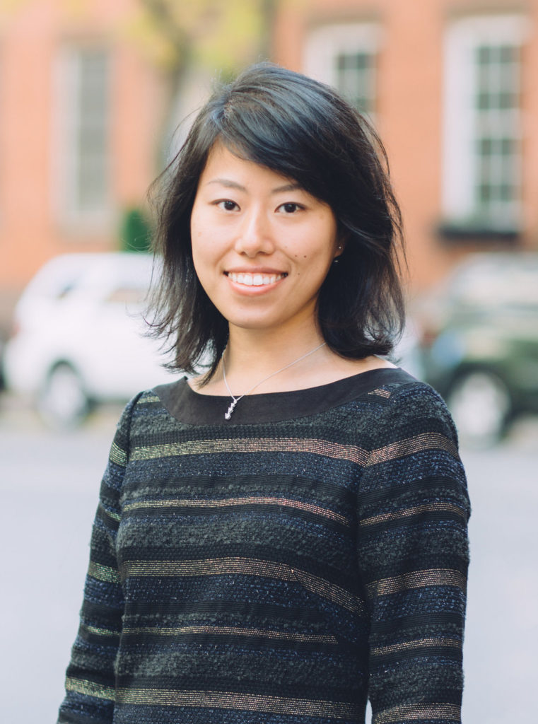 Portrait of Ayumi Okada on city street