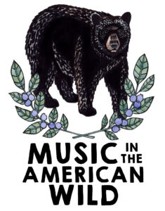 Music in the American Wild logo with bear